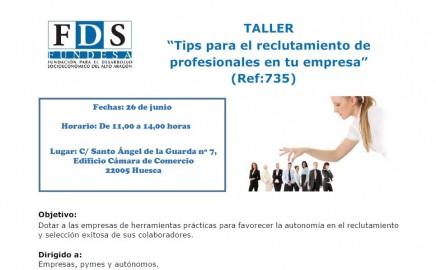 Taller: Tips para el reclutamiento de profesionales en tu empresa