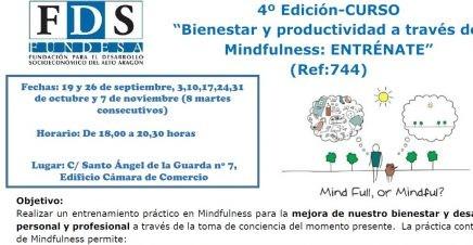 """4º Edición CURSO """"Bienestar y productividad a través del Mindfulness: ENTRÉNATE"""""""
