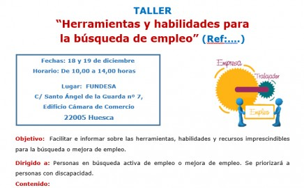 Taller: Herramientas y habilidades para la búsqueda de empleo