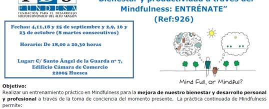"""5º Edición CURSO """"Bienestar y productividad a través del Mindfulness: ENTRÉNATE"""""""
