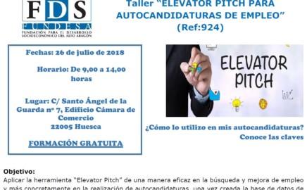 Taller 'ELEVATOR PITCH PARA AUTOCANDIDATURAS DE EMPLEO'
