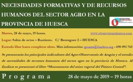 """JORNADA """"NECESIDADES FORMATIVAS Y DE RECURSOS HUMANOS DEL SECTOR AGRO EN LA PROVINCIA DE HUESCA"""""""