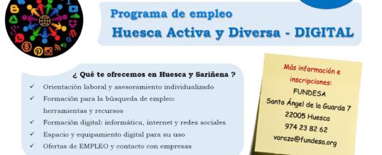 Se inicia el programa Programa HUESCA ACTIVA Y DIVERSA – DIGITAL